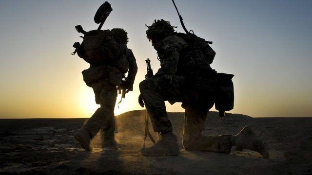 British troops in Afghanistan in 2013