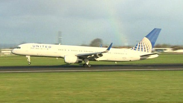 """Belfast International Airport said it was """"disappointed"""" by the decision by United Airlines"""