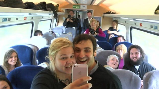 Middlesbrough comedian Patrick Monahan on the East Coast train