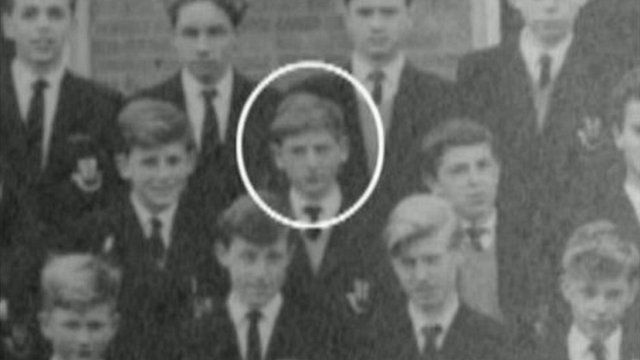 Roy Hodgson with his classmates