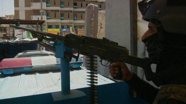 Man with a gun in Iraq