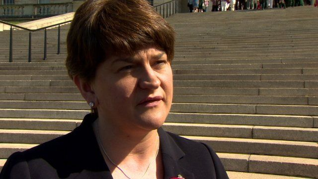 """Minister Arlene Foster described the proposal to merge the schools as """"bizarre"""""""
