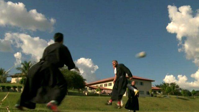 Friars playing football
