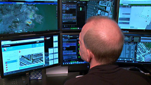A SST employee monitoring gunshots