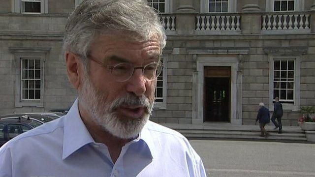 Mr Adams was shot in 1984, months after becoming president of Sinn Féin