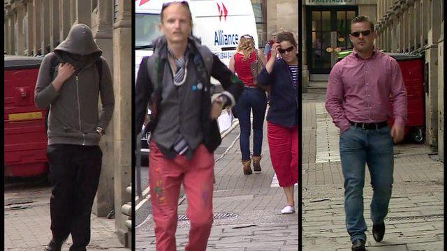 Daniel Baynes (left), Janusz Salnikow (middle) and Tomasz Gidaszewski (right) were sentenced at Bristol Crown Court