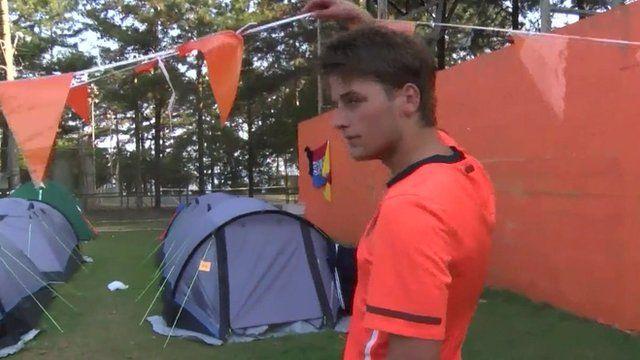 Inside Dutch football fans' campsite