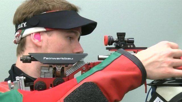 A member of Team Wales shooting team