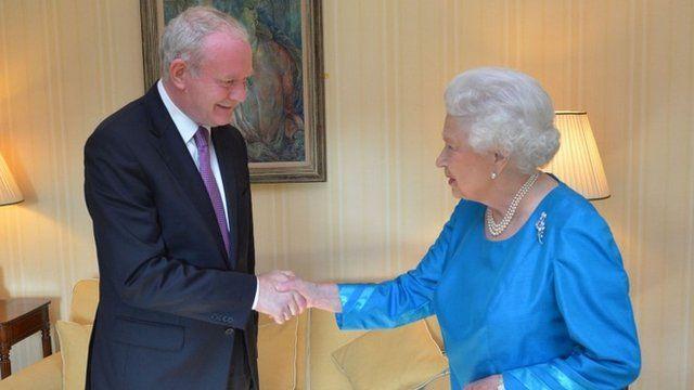 Martin McGuinness meets the Queen