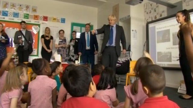 Boris Johnson announces new schools