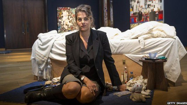 Tracey Emin with My Bed