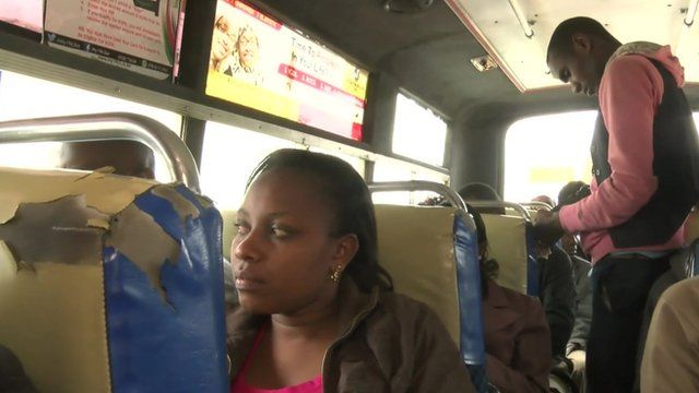 On board one of the first matatus to take up the new system