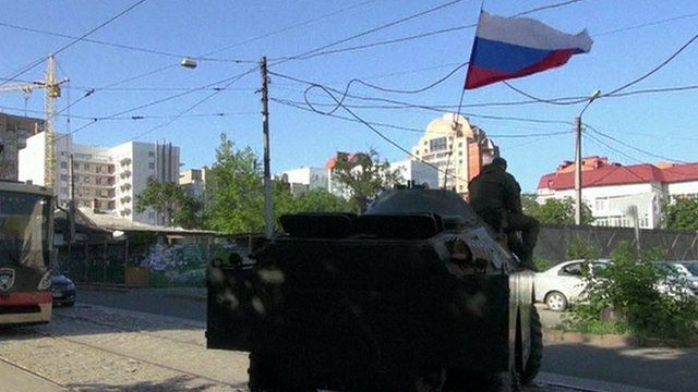 Pro-Russian soldiers