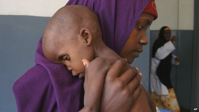 A mother and child affected by drought in Somalia in 2011