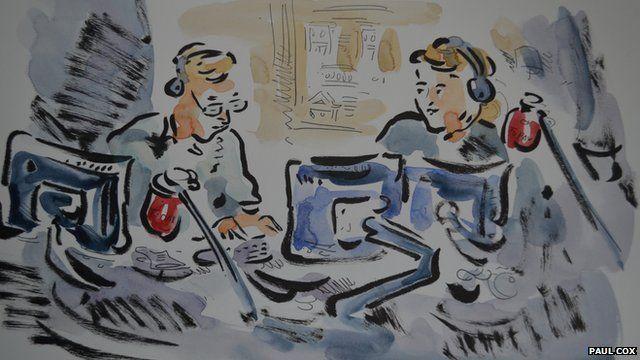 Presenters Sarah Montague and John Humphrys as an illustration