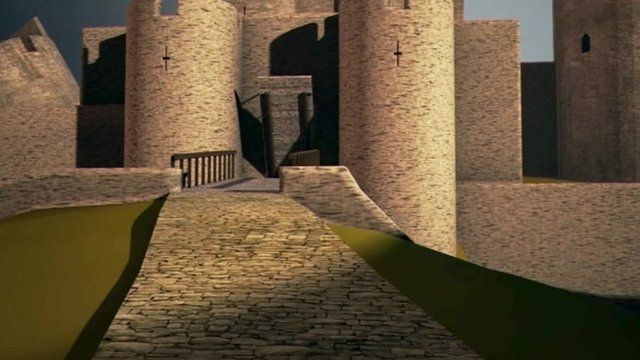 Caerphilly Castle CGI animation