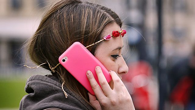 Using a mobile phone