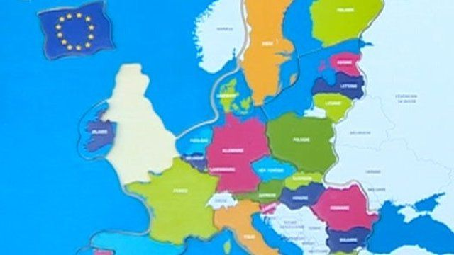 EU map without the UK as a member