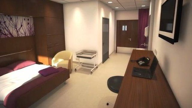 Artist impression of new birthing room at Glangwili
