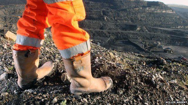 An opencast mine worker