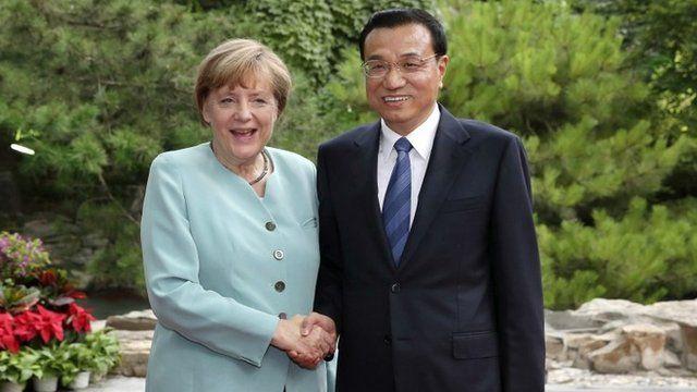 German Chancellor Angela Merkel and Chinese Premier Li Keqiang