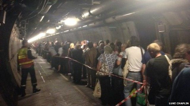 Passengers evacuated from Channel Tunnel train