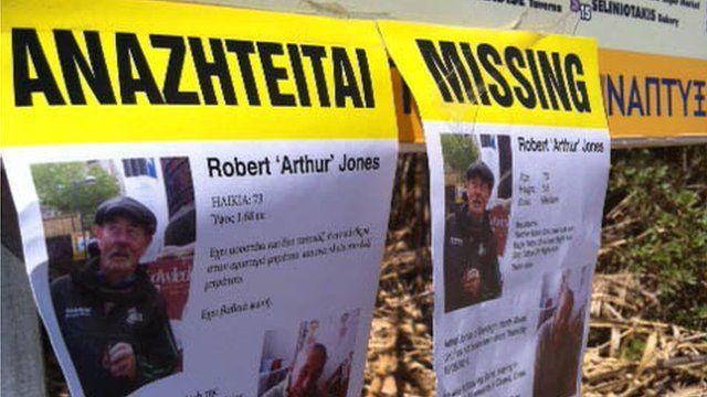 Missing posters put up in Crete for pensioner Arthur Jones