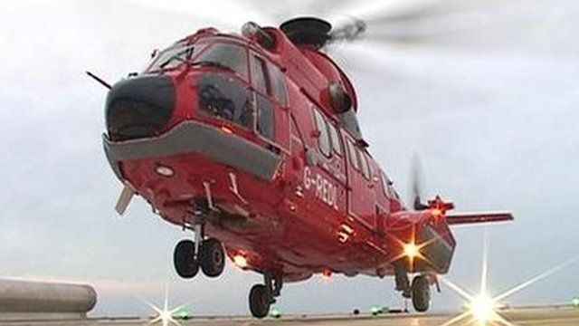 A Super Puma helicopter before it crashed