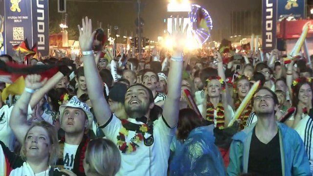 German fans celebrate in Berlin