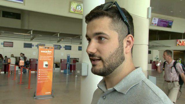 A man at an airport