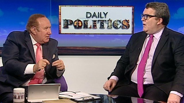 Andrew Neil and Tom Watson