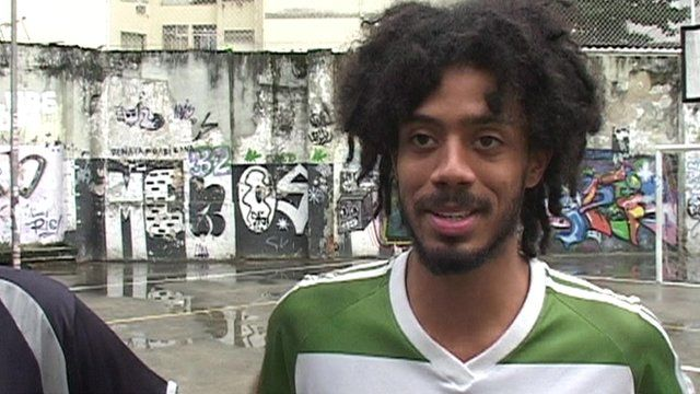 A Rio resident who says he will be supporting Germany in the final.