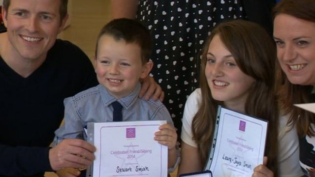 Youngsters at the Children's Foundation Stars Awards