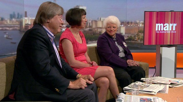 Broadcaster Ruth Wishart, general secretary of the TUC, Frances O'Grady and former cabinet minister David Mellor