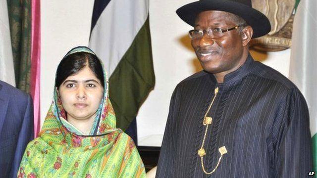 Malala Yousafzai and Goodluck Jonathan