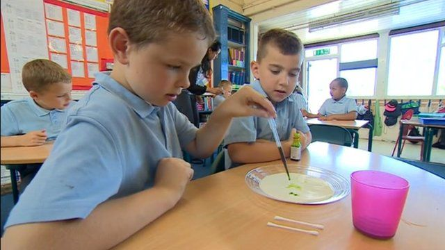 Pupils at Priory Primary School in Dudley