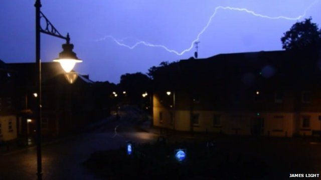 Lightning in Dickens Heath, Solihull