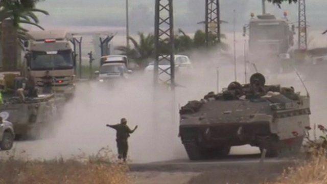 Israeli military vehicles
