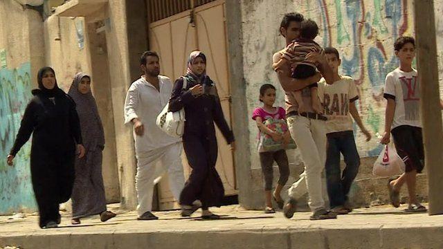 Civilians flee Shejaiya