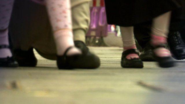 young girls feet
