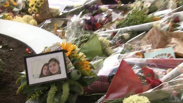 Floral tributes left to victims