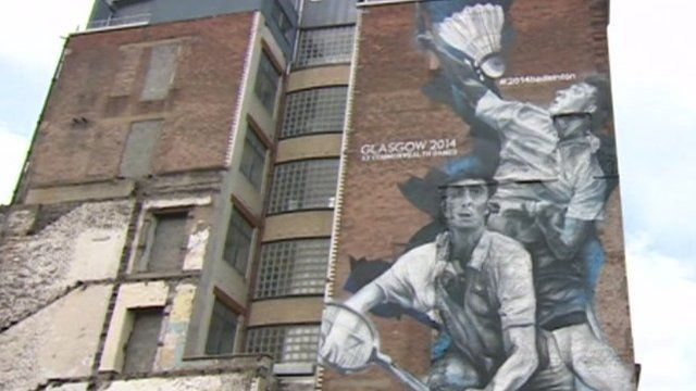 A commonwealth Games mural