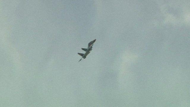 Still from file footage of Ukrainian military jet