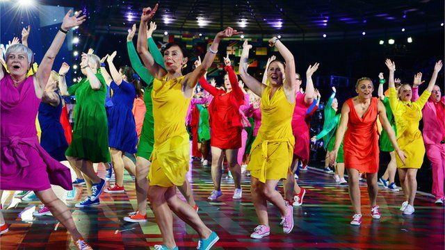 Glasgow Commonwealth Games opening ceremony dancers
