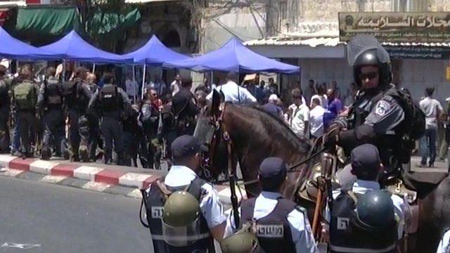 Israeli forces in East Jerusalem