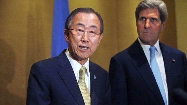 Ban Ki-moon and John Kerry