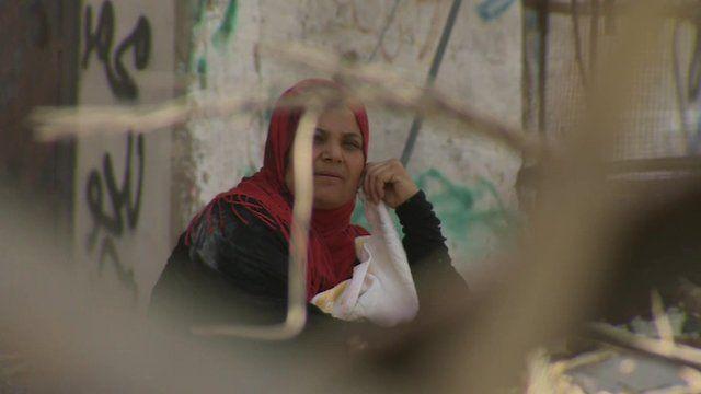 A woman in Gaza