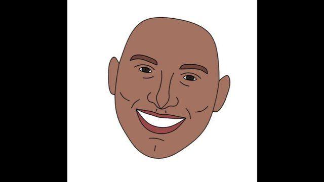 Cartoon smiling face