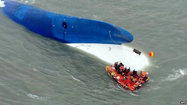 File photo of capsized ferry - 16 April 2014