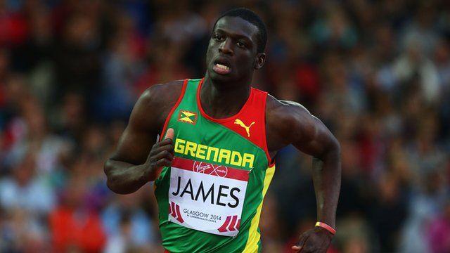 Grenadian sprinter Kerani James wins men's 400m gold